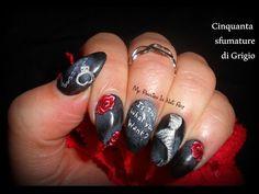 Fifty Shades Of Grey nails - tutorial nail art 50 sfumature di grigio - YouTube