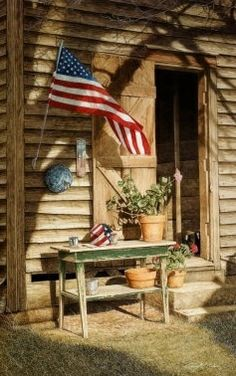 Hung with Pride American Country, American Pride, American Flag, American Barn, Star Spangled Banner, I Love America, Home Of The Brave, American Spirit, Patriotic Decorations