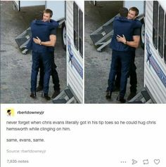 Chris Evans and Hemsworth