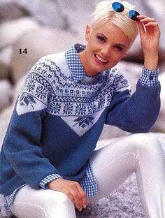 Пуловер с фигурной жаккардовой кокеткой. Обсуждение на LiveInternet - Российский Сервис Онлайн-Дневников