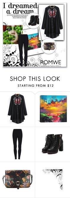 """""""Romwe"""" by ermina-camdzic ❤ liked on Polyvore featuring iCanvas and romwe"""