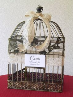 50 Best Bird cage wedding card holders images | Wedding ...