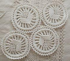 Handmade irish crochet doily by fancypansycrafts on Etsy