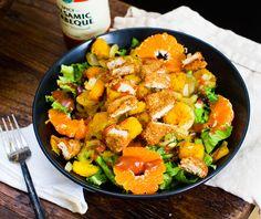 spicy, vegan bbq chopped salad.