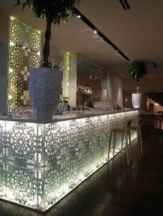 "Restaurant ""Kaļķu Vārti"" in Riga, Latvia Restaurant Booth Seating, Deco Restaurant, Restaurant Interiors, Restaurant Interior Design, Moroccan Design, Moroccan Style, Oriental, Ancient Persia, Lazer Cut"