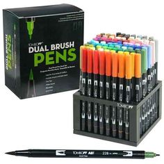 Tombow 56149 Dual Brush Pens 96 Color Set With Desk Stand