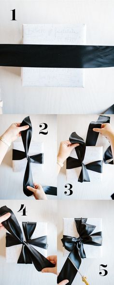Gift wrap hacks - Learn How to Tie a Tiffany Bow by Handmade Mood and other great gift wrapping ideas