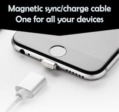 Elough Auto Focus Magnetic Charging Cable HQ Nylon Braided Fast Charge Magnetic Data Cable for Apple iPhone (Silver) Iphone 5 6, Apple Iphone 5, Windows Phone, Android Windows, Original Gifts, Tech Gifts, Charging Cable, Magnets, Ipad