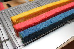 Mondrian cake how-to