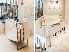 The hub of the store is the Scent Discovery Bar, which was designed to invite and engage customers into the well-being experience, by enabling them to discover their main underlying wellbeing need - Sleep, Stress, Energy or Mood Boosting. Finished in a white-washed ply with copper framework, this elegant focal point encourages interaction and increases dwell time.