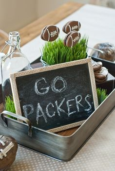 Incorporate a Chalkboard Into Your Football Party Decor!