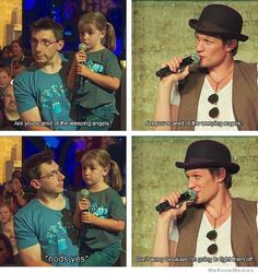 This is why Matt Smith is basically the most awesome guy on television.