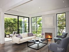 Contemporary Gray Front Door   LuxeSource   Luxe Magazine - The Luxury Home Redefined
