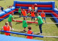 Want to impress your guests and add something fun and exciting to your event… Field Day Activities, Field Day Games, Sports Day, Sports Games, Human Foosball, Soccer Center, Kids Backyard Playground, Table Football, Night Fever