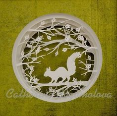 I have got many things to do... Original  papercut by Catherine Bogomolova