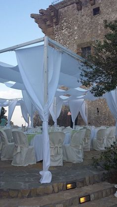 What a beautiful wedding decor at this breathtaking wedding venue in Scopello!  Say I DO in Sicily!