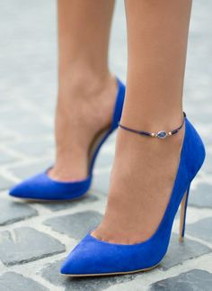 The perfect pair of blue suede shoes