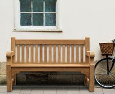 Balmoral 5ft Teak Park Bench - Street Bench #benches #teak #corido #gardenfurniture