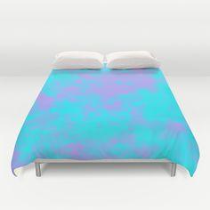 Cotton Candy Clouds - Purple & Blue Duvet Cover #duvetcover #cottoncandy #clouds #purple #blue #society6