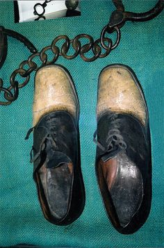 """Shoes made from the skin of outlaw and cattle rustler George """"Big Nose"""" Parrott. My family Tap Shoes, Dance Shoes, Big Noses, Character Shoes, Take That, Pairs, Wyoming, Leather, Historical Images"""