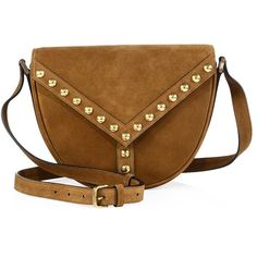 Saint Laurent Y Studs Besace Suede Crossbody Bag ( 1 4a38b12ea55fe