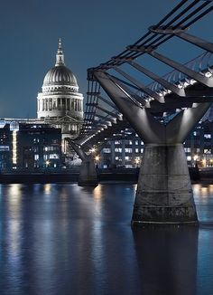 Millennium Bridge and St. Paul's, London  #RePin by AT Social Media Marketing - Pinterest Marketing Specialists ATSocialMedia.co.uk