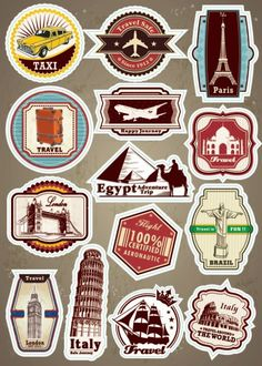 sticker for car Picture - More Detailed Picture about World Famous Scenic Spot Signs Decal Sticker for Car Motorcycle Trolley Luggage Guitar Skateboard Laptop Sticker for Car Styling Picture in Decals & Stickers from Car Stickers Supermarket--TGC Printable Stickers, Cute Stickers, Planner Stickers, Craft Stickers, Printable Art, Motorcycle Travel, Motorcycle Party, Motorcycle Fashion, Travel Party