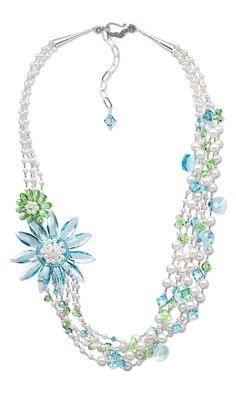 Jewelry Design - Multi-Strand Necklace with Swarovski Crystal - Fire Mountain Gems and Beads