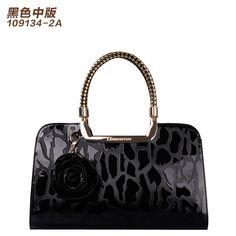 2016 Fashion women cowhide handbag japanned genuine leather hand bag vintage elegant large bag big bags bolsas femininas tote