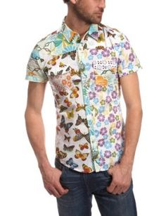 Desigual Men's Butterfly Woven Shirt $89.00