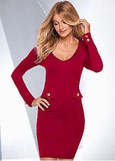 Red dress venus zipper