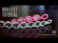 Wave and Triangle Bracelet Tutorial by Macrame School, My Crafts and DIY Projects