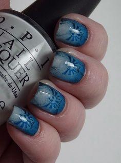 The Legend of Zelda Hylian Crest Fingernail nails art