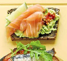 Open sandwiches - Smoked salmon & avocado on rye recipe - Recipes - BBC Good Food