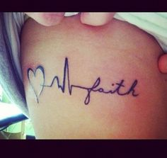 Love, Life, Faith Tattoo. Think I wanna get mine touched up to look like this