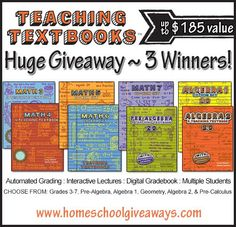 Teaching Textbooks Giveaway