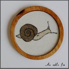 Sous-verre escargot