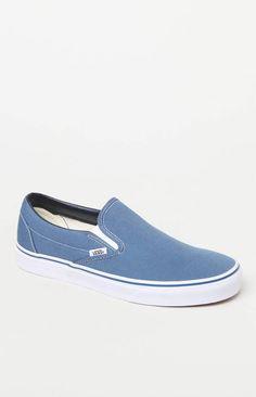 b02631dd17d Vans Classic Blue Slip-On Shoes