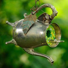 Teapot birdhouse, Clifford Earl
