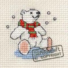 MOUSELOFT STITCHLETS CROSS STITCH KIT ~ TEDDY IN STOCKING ~ NEW