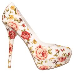 Love this fun floral print for wedding shoes. Would look great with red, coral, or yellow bridesmaids dresses Floral Print Heels, Floral Prints, Cute Shoes, Me Too Shoes, Cheap Designer Handbags, Designer Bags, Yellow Bridesmaid Dresses, Wholesale Bags, Wholesale Handbags