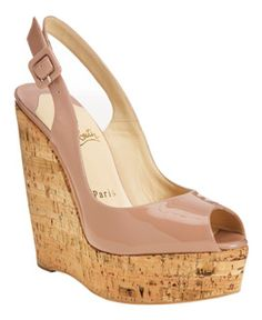 5ee50a5d113e Love these Louboutin wedges for summer Shoes Sandals