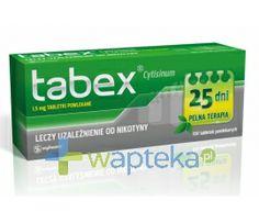TABEX Przeznaczony dla osób chcących zrezygnować z palenia, odzwyczajenia organizmu od nikotyny