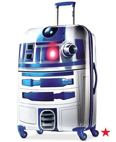 If this isn't the coolest suitcase ever we're not sure what is! Snag up this awesome R2D2 spinner luggage on Force Friday.