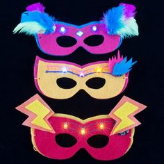 Light-up mask - easy to make and great for masquerade prom themes