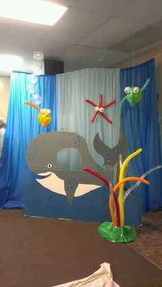 Jonah and the big fish go fish idea Arctic Decorations, School Decorations, Whale Crafts, Fish Crafts, Bible School Crafts, Bible Crafts For Kids, Thanksgiving Games For Kids, Thanksgiving Feast, Jonah And The Whale