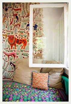 Eclectic Rooms For Kids Love this wallpaper! The post 8 Eclectic Rooms For Kids appeared first on Woman Casual. Love this wallpaper! The post 8 Eclectic Rooms For Kids appeared first on Woman Casual. Interior Flat, Interior And Exterior, Interior Paint, Shabby Chic Tapete, Casa Kids, Deco Kids, Kid Spaces, Kids Decor, Kids Bedroom