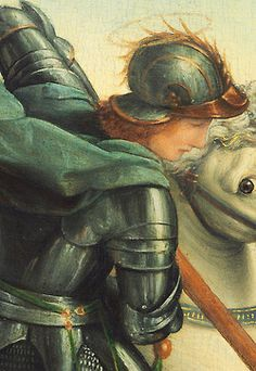 Saint George and the Dragon - Raphael. Detail.