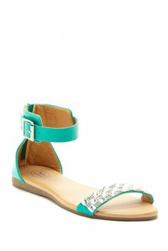 Carrini Jeweled Strap Sandal - might be even more awesome in navy