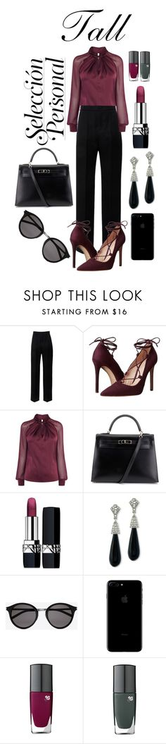 """Tall Look"" by wasted-luxury ❤ liked on Polyvore featuring Lanvin, Massimo Matteo, Hermès, Christian Dior, Kenneth Jay Lane, Yves Saint Laurent and Lancôme"